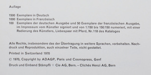 Marc Chagall-das Graphische Werk, Band I, By Eberhard W. Kornfeld