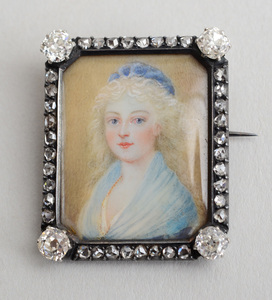 PORTRAIT MINIATURE OF MARIE THERESE CHARLOTTE DE FRANCE