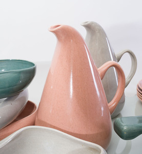 THIRTY-SIX PIECE RUSSEL WRIGHT POTTERY PART SERVICE, MANUFACTURED BY STEUBENVILLE