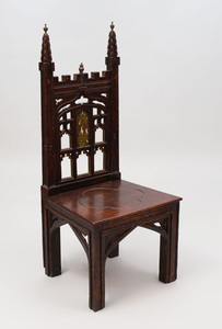 English Gothic Style Painted Side Chair