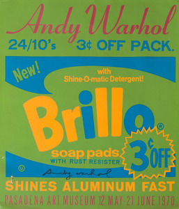 AFTER ANDY WARHOL (1928-1987): ANDY WARHOL: PASADENA ART MUSEUM EXHIBITION POSTER