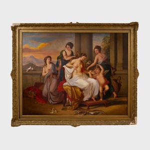 Continental School: Venus, Cupid and Attendants