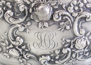 Pair of Gorham Silver Five-Light Candelabra, for Theodore B. Starr