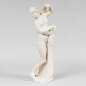 After Pietro Bazzanti (1825-1895): Neoclassical Female Nude Partially Draped