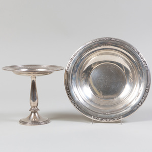 International Silver Trophy Bowl and a Durgin Silver Tazza