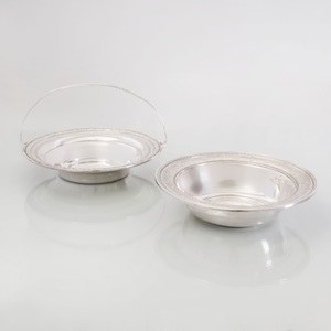 International Silver Fruit Bowl in the 'Wedgwood' Pattern, and a Woodside Silver Basket