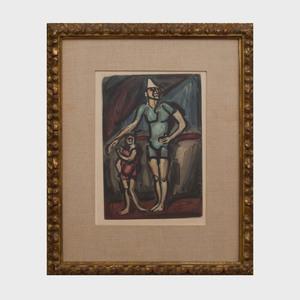 Georges Rouault (1871-1958): Clown et Enfant, from Cirque
