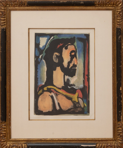 GEORGES ROUAULT (1871-1958): HEAD OF CHRIST IN PROFILE, FROM LES FLEURS DU MAL