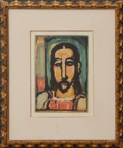 GEORGES ROUAULT (1871-1958): CHRIST DE FACE, FROM LES FLEURS DU MAL