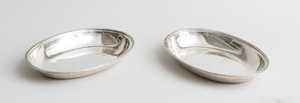 PAIR OF GEORGE III SILVER OVAL SHALLOW DISHES