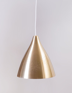 LISA JOHANSSON-PAPE PERFORATED BRASS 'LISA 720' PENDANT LAMP FOR INNOLUX