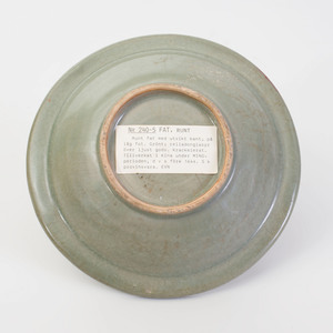 Chinese Celadon Glazed Pottery Footed Bowl