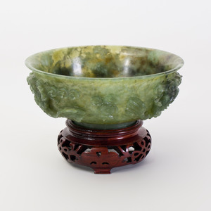 Chinese Carved Jade Bowl