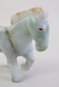 Chinese Carved Jadite Model of a Horse