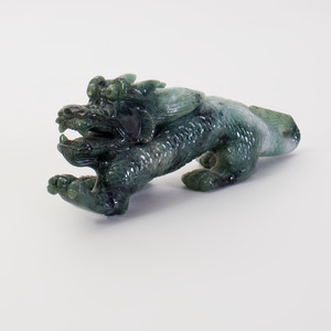 Chinese Carved Jade Figure of a Dragon