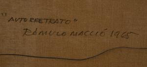 ROMULO MACCIÓ (1931-2016): AUTORETRACTO