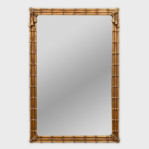 Giltwood Faux Bamboo Mirror