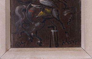 ATTRIBUTED TO REGINALD MARSH (1898-1954): KNIGHT ON HORSEBACK