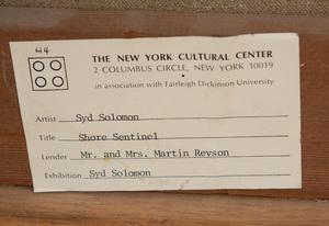 SYD SOLOMON (1917-2004): SHORE SENTINEL