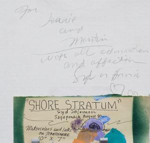 SYD SOLOMON (1917-2004): SHORE STRATUM
