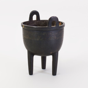 Miniature Chinese Bronze Model of a Ding