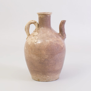 Chinese Cream Glazed Pottery Ewer