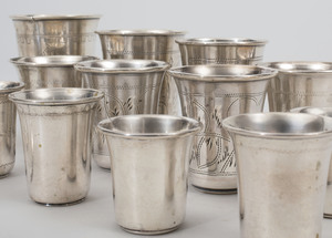 Group of Russian and American Silver Kiddush Cups, and Other Continental Wares