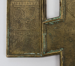 Russian Brass and Enamel Icon