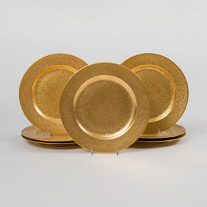 Set of Eight Gilt-Ground Rosenthal Plates