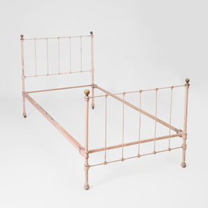 Painted Metal Twin Bed
