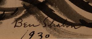 BEN SHAHN (1898-1969): SEATED WOMAN