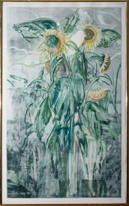 MICHAEL MAZUR (1935-2009): LARGE SUNFLOWER GROUP