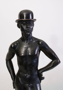 MICHAEL MELITONOV: MALE NUDE WITH BOWLER HAT