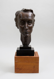 20TH CENTURY SCHOOL: PORTRAIT BUST OF MR. SIMPSON
