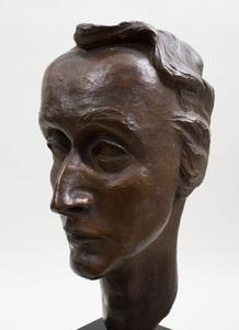 20TH CENTURY SCHOOL: PORTRAIT BUST OF MR. SIMPSON
