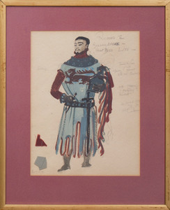 Motley Theatre Design Group (1932- c. 1976): Balloon Seller from Ben Franklin in Paris; and Bosco for Richard II