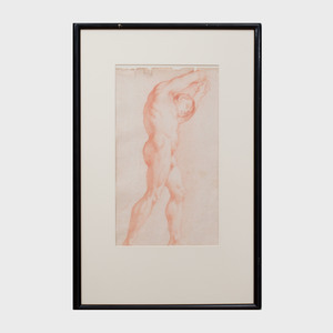 French School: Standing Male Nude Study; and Male Nude Study