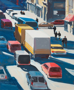 DAVID KAPP (b. 1953): WALKER AND BROADWAY