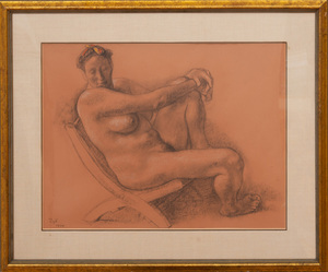 FRANCISCO ZUÑIGA (1912-1998): SEATED NUDE
