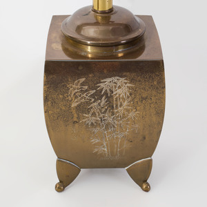 Pair of Asian Style Brass Table Lamps