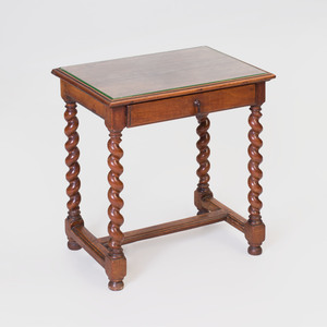Flemish Baroque Style Walnut Side Table