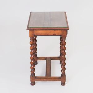 Flemish Baroque Style Walnut Side Table