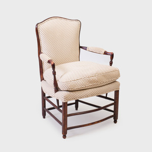 French Provincial Stained Wood Fauteuil