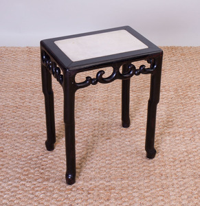 Chinese Ebonized Side Table