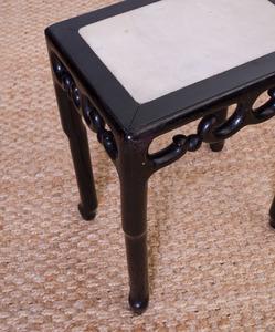 Chinese Ebonized Side Table