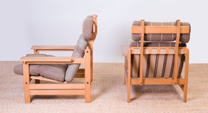 PAIR OF AKSEL DAHL OAK LOUNGE CHAIRS FOR K.P. MØBLER