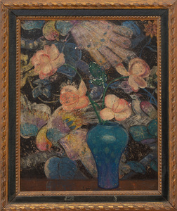 Emma Fordyce Macrae (1887-1974): Rose and Blue, Flower Decoration