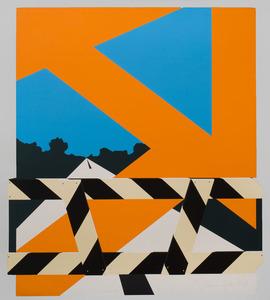 ALLAN D'ARCANGELO (1930-1998): BRIDGE-BARRIER; LANDSCAPE; PROPOSITION NUMBER 1; AND LANDSCAPE