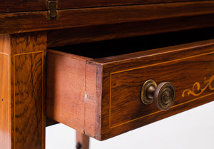 William IV Inlaid Rosewood Games Table