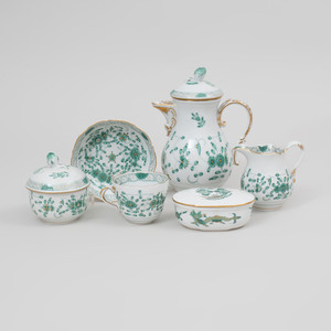 Meissen Porcelain Part Coffee Service in the 'Chinese Bouquet' Pattern